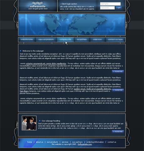 Wired Blue template preview 3