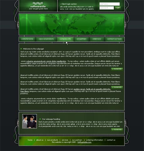 Wired Green template preview 3
