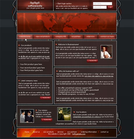 Wired Red template preview