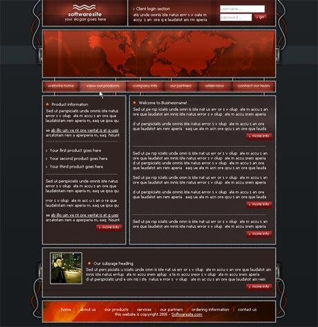 Wired Red template preview 2