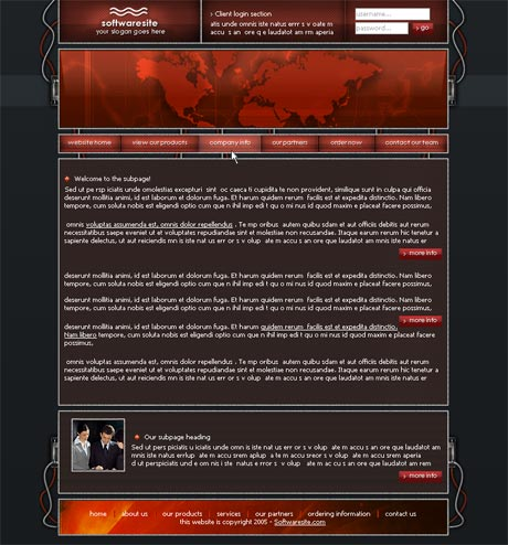 Wired Red template preview 3