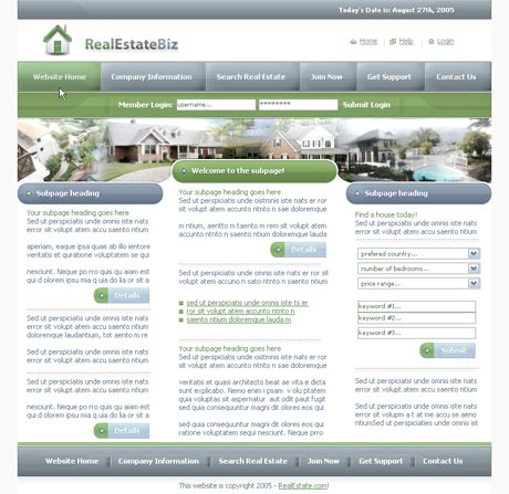 Real Estate Blue template preview 2
