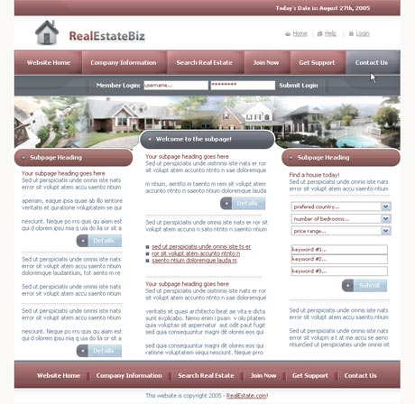 Real Estate Red template preview 2