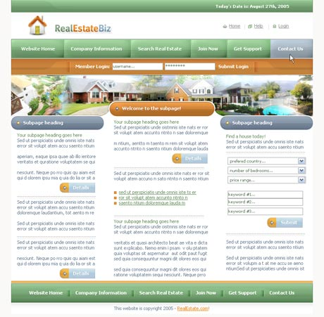 Real Estate Green template preview 2