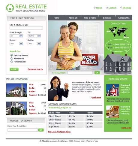 Pro Real Estate template preview