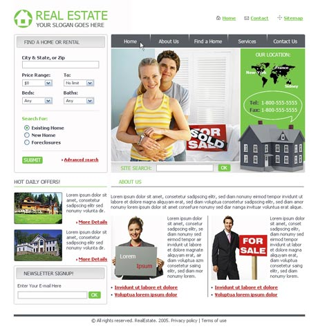Pro Real Estate template preview 2