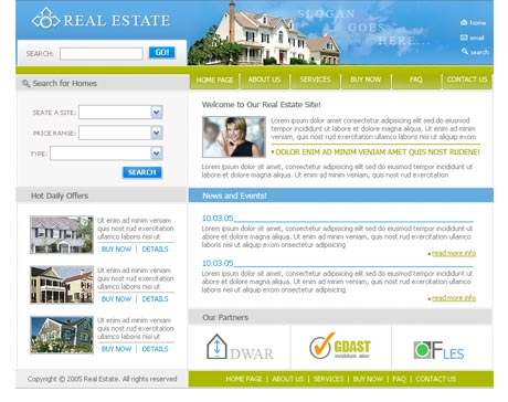 Dream Real Estate template preview