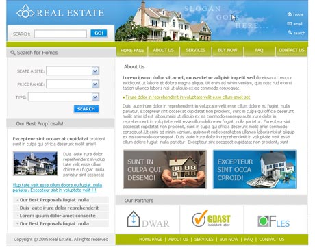Dream Real Estate template preview 2