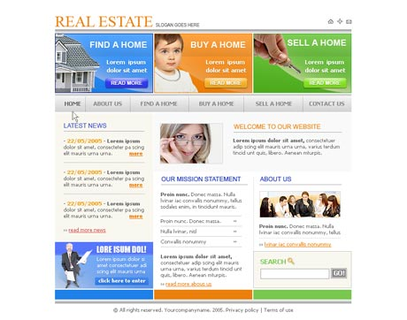 Prime Real Estate template preview