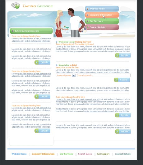 Dating Service Multi template preview 2