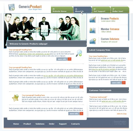 Boardroom Multi template preview 2