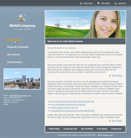 Company Portfolio Blue template preview 2
