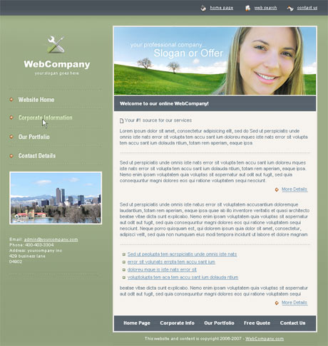 Company Portfolio Green template preview 2