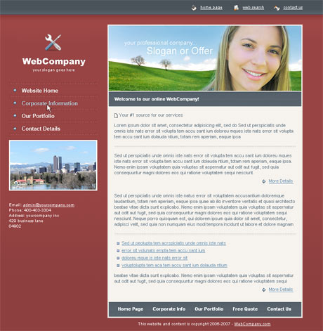 Company Portfolio Red template preview 2