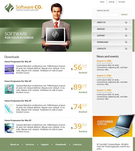 Flash Software Green template preview 2