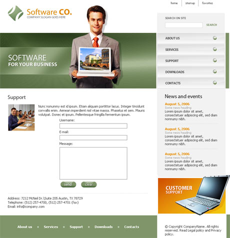 Flash Software Green template preview 3