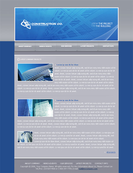 Flash Building Blue template preview 3