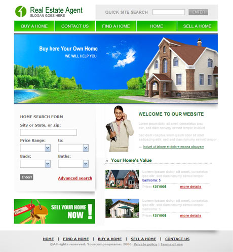 Real Estate Agent template preview