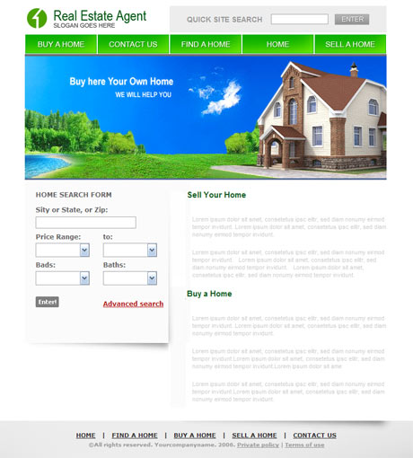 Real Estate Agent template preview 2