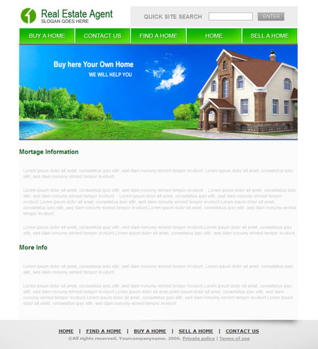 Real Estate Agent template preview 3