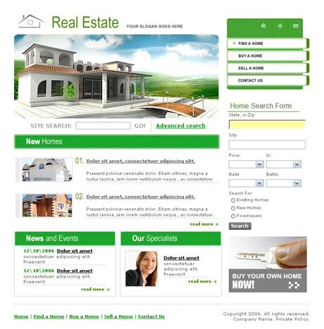 Paradise Real Estate template preview