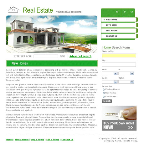 Paradise Real Estate template preview 2