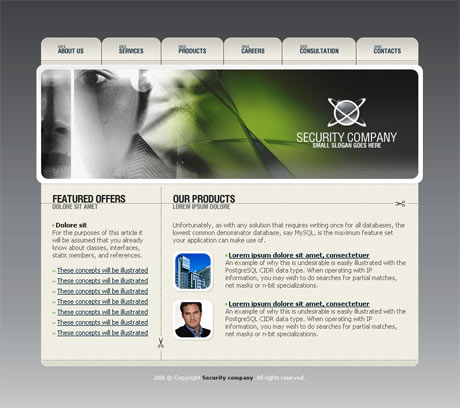 Corporate Security Grey template preview 2