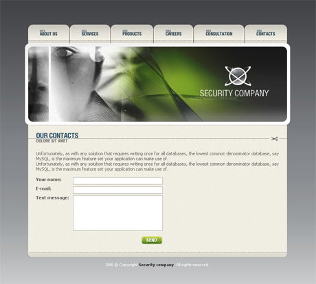 Corporate Security Grey template preview 3