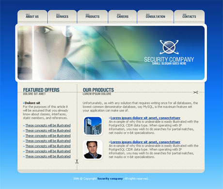 Corporate Security Blue template preview 2