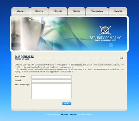 Corporate Security Blue template preview 3