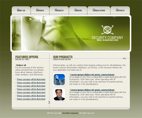 Corporate Security Green template preview 2