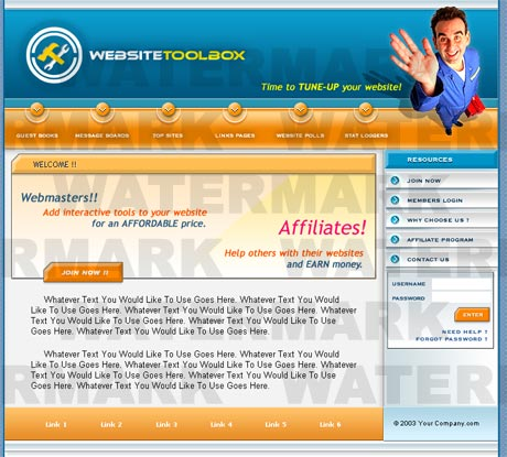 Webmaster Blue template preview