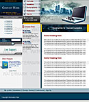 Laptop Blue Website Template