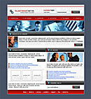 Office Pro Red web template