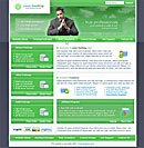 Simple Host Green Web Template