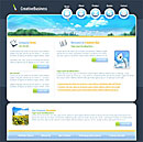 Creative Blue Web Template