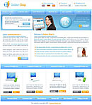 Online Shop Blue Web Template