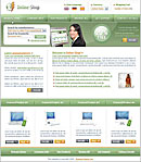Online Shop Green Website Template