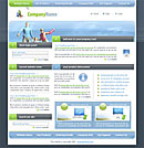 Happy Day Blue website template