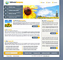 Sunflower Purple Web Template
