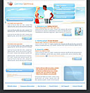 Dating Service Blue Web Template