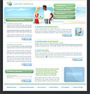 Dating Service Green Website Template