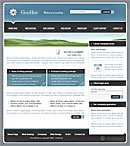Gear Host Blue Website Template
