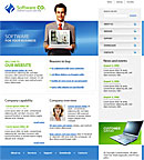 Flash Software Blue website template