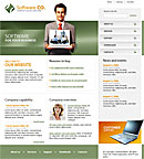 Flash Software Green Web Template