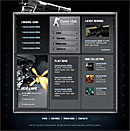 Gamer Club Blue Web Template