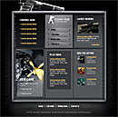 Gamer Club Gold Web Template
