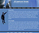 Skyscraper Blue Web Template