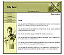 Music Yellow Website Template