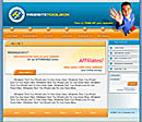 Webmaster Blue Website Template